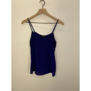 Topshop Sleeveless Solid Tank Tops Blue Size US 2